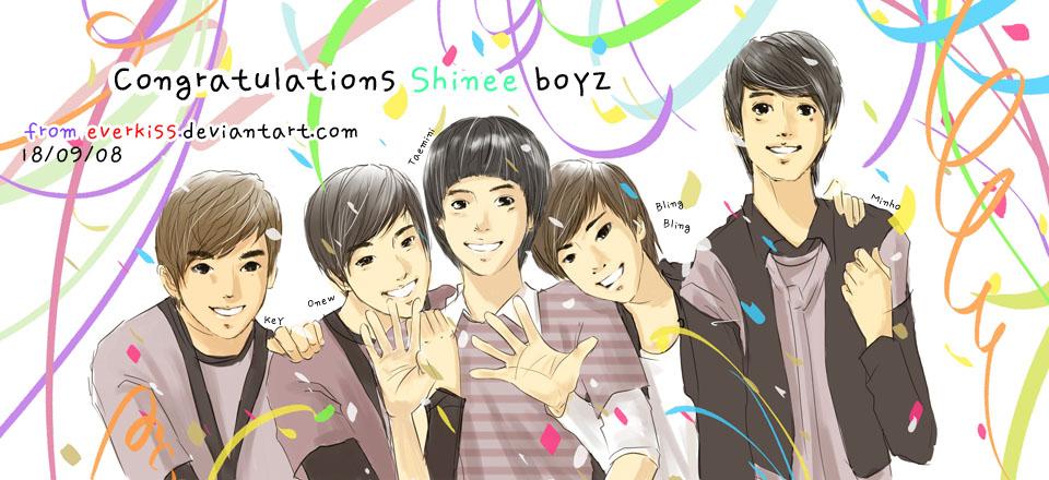fanart  Shinee celebra...