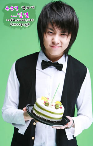 Yong Junhyung with his cake XD